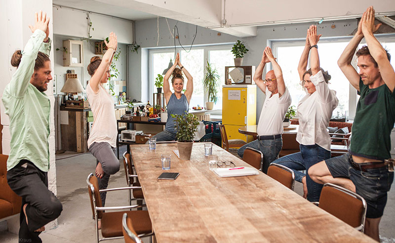 Business-Yoga in Berlin von