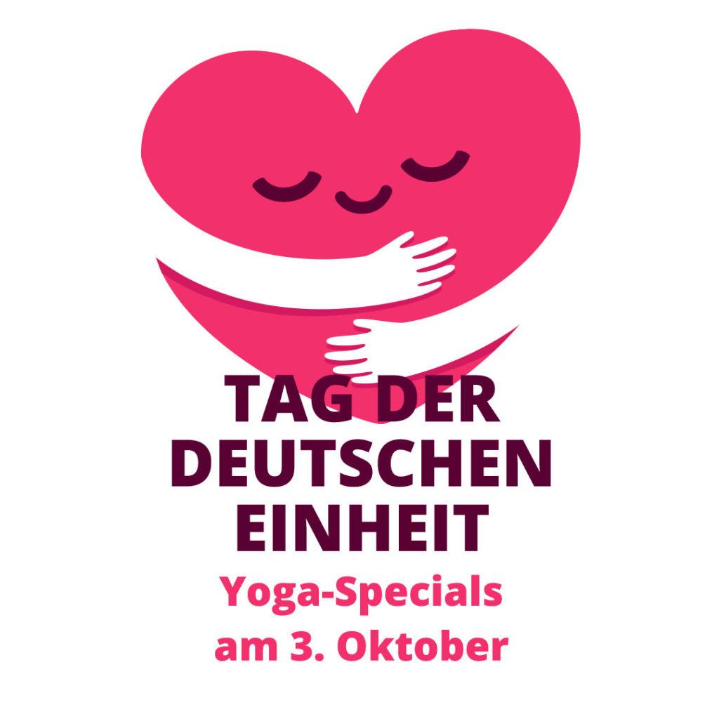 Yoga Specials zum Tag der Deutschen Einheit bei yogafürdich am 3.10.2021
